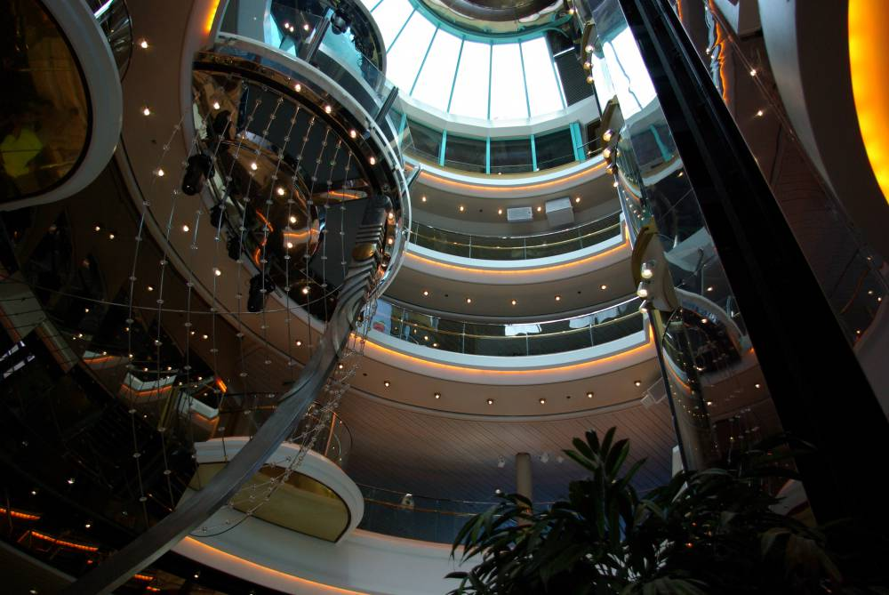 Atrium of Empress of the Seas (c) 2016 Alyce Meserve
