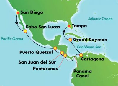 Norwegian Pearl Reposition San Diego to Tampa via Panama Canal