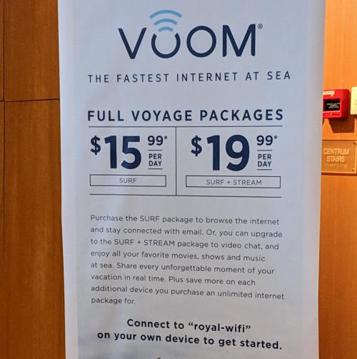 Voom Internet Promotion Sign
