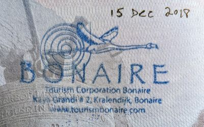 Bonaire passport stamp