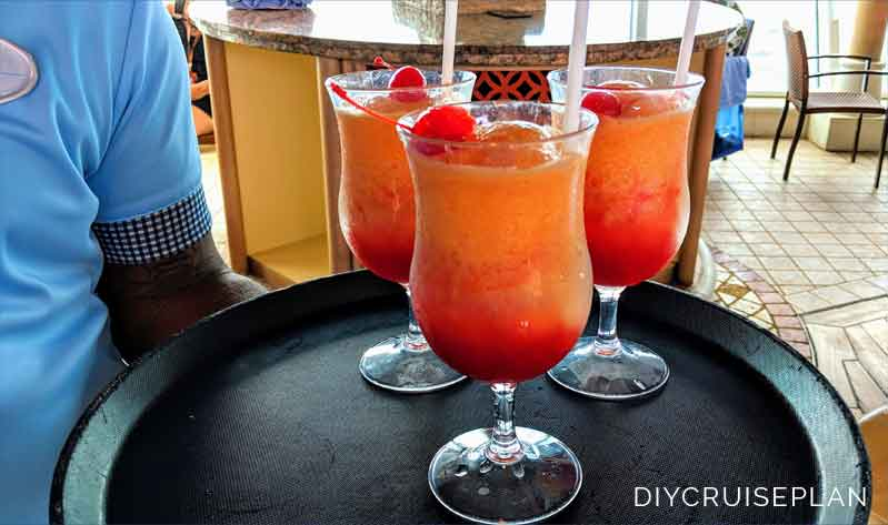 Red and Orange Frozen Drinks on Royal Caribbean Serenade of the Seas