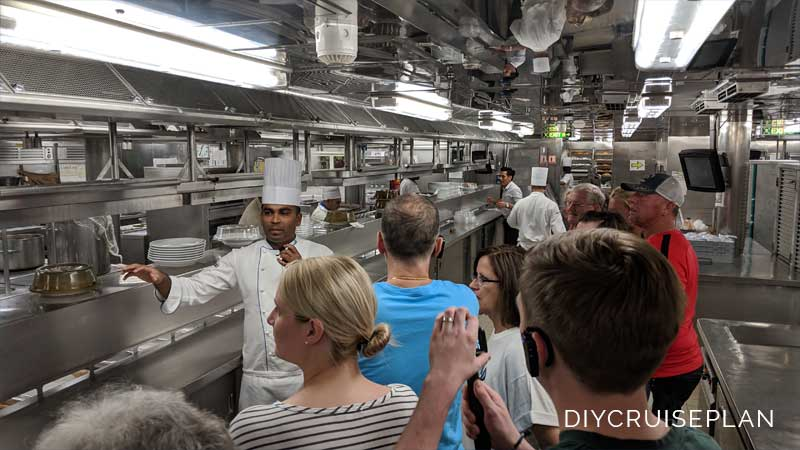 Galley Kitchen Behind the Scenes Cruise Ship Tour Royal Caribbean Serenade of the Seas