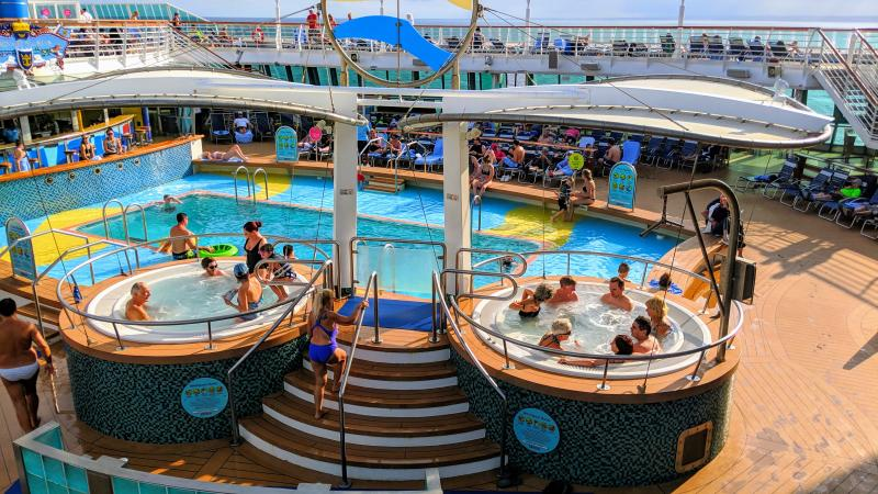 Pool deck, Royal Caribbean Serenade of the Seas (c) 2018 Alyce Meserve