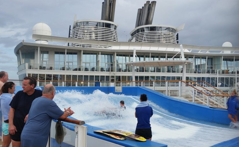 Harmony of the Seas | Flow Rider surfing (c) 2017 Alyce Meserve