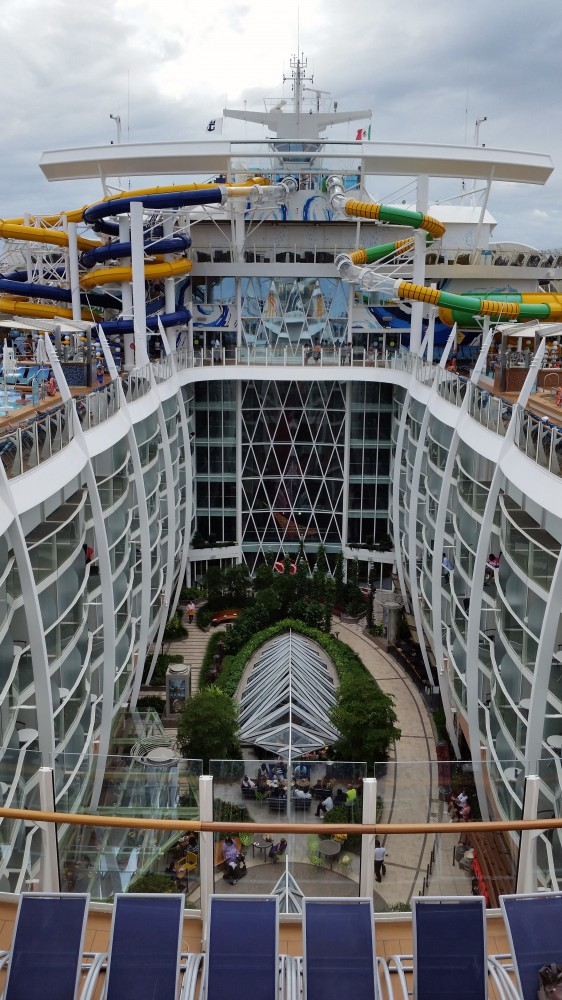Harmony of the Seas Central Park with interior balconies (c) 2017 Alyce Meserve