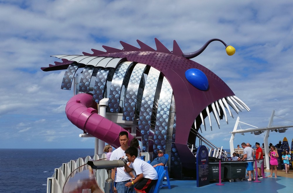 Harmony of the Seas   Entrance to Abyss Slide (c) 2017 Alyce Meserve