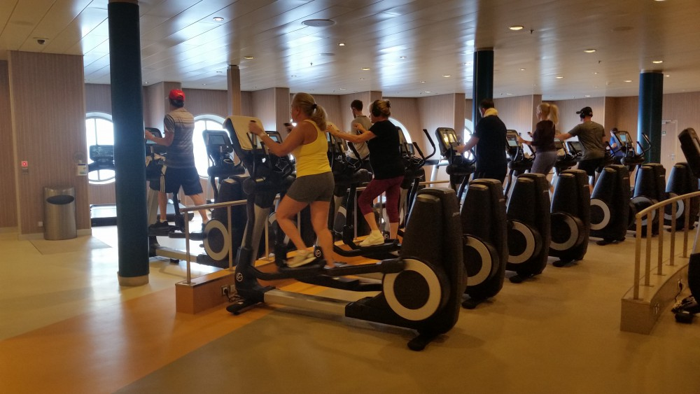 Harmony of the Seas | Fitness center (c) 2017 Alyce Meserve