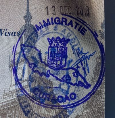 Curacao immigration stamp