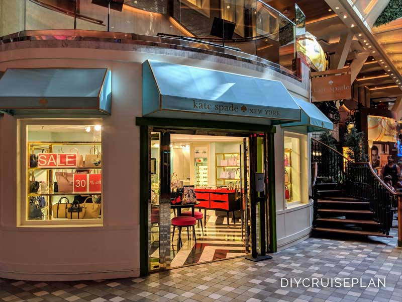 Kate Spade shop on Royal Caribbean Oasis of the Seas