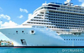 MSC Seaside cruise ship in Nassau Bahamas copyright Alyce Meserve 2019