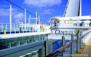 Royal Caribbean Oasis of the Seas Zipline Boardwalk Sports Deck August 2018 copyright Alyce Meserve