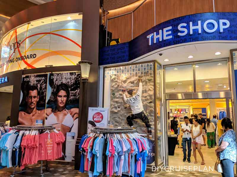 Logo brand shop on Royal Caribbean Oasis of the Seas cruise ship